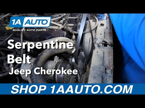 How to Replace Install Serpentine Belt 1996-99 Jeep Cherokee Buy Quality Auto Parts from 1AAuto.com