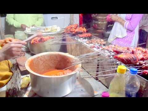 आलम चिकन बिरयानी Chicken Biryani Seenkh Kebabs Roasted Chicken Street Food
