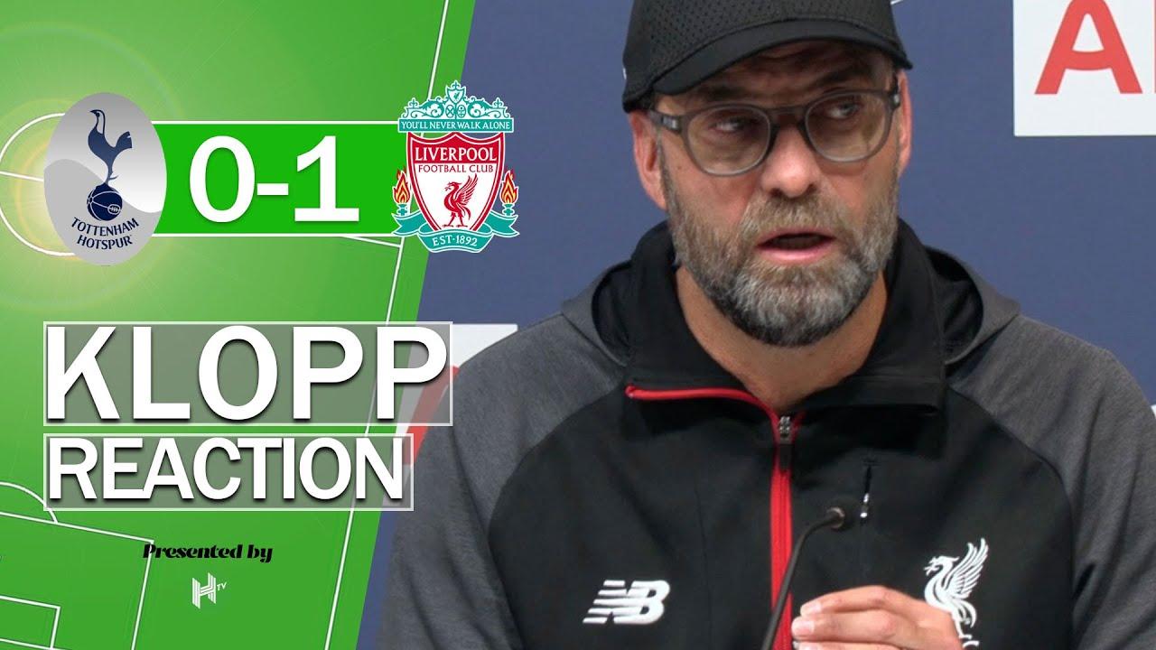 WE MUST SCORE MORE   Jurgen Klopp press conference after Tottenham 0-1 Liverpool Premier League