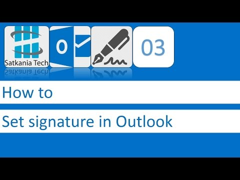 03 How to set eMail signature in Outlook 2013   Bangla