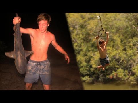 BULLSHARK Catch n Cook!!! - caught at popular Rope Swing!