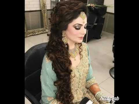 Pakistani Indian party makeup and wedding hair style