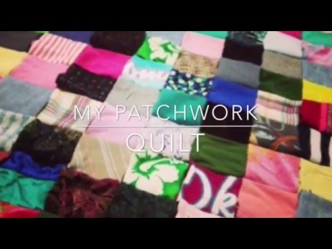 I made a patchwork quilt of my old clothes. :)