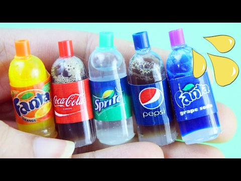 🍫How To Make A Miniature Soda / Cola Bottle - simplekidscrafts