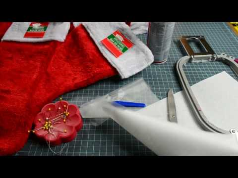 DIY - Personalized Christmas Stocking: PART 1