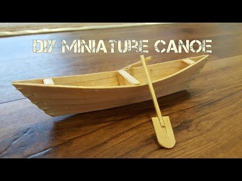DIY Miniature Canoe
