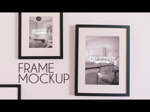 Photo Frame MockUp for Wall   Photoshop Tutorial   Speedart