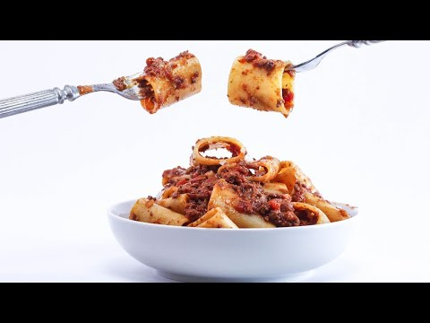 Rachael's Meat Lovers' Sauce with Paccheri or Rigatoni