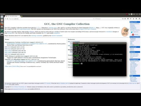 Installation of GCC, the GNU Compiler Collection in Ubuntu 15.10