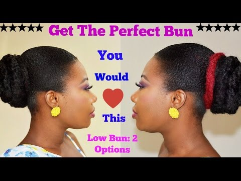How to Get the Perfect Sleek Low Bun : 2 Styles