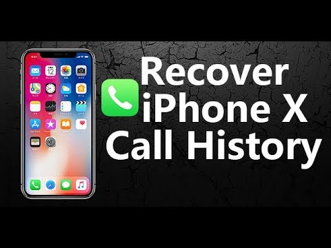 Get Removed/Deleted iPhone x/8/7/6/5s Call History Back in 1 Click.