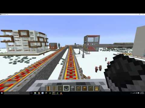 Minecraft City with Subway & Light Rail.
