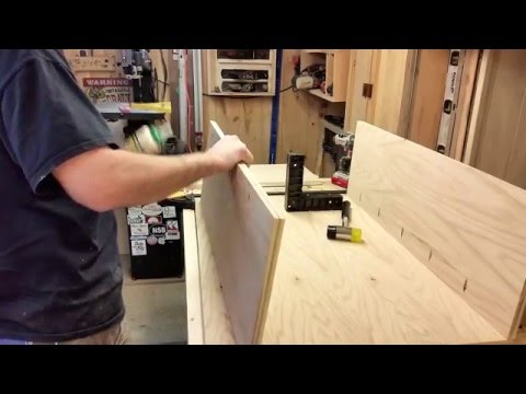 How to build a bookcase with cabinet storage  part 1of3