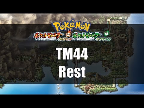 Pokemon Fire Red & Leaf Green | Where to find TM44 Rest