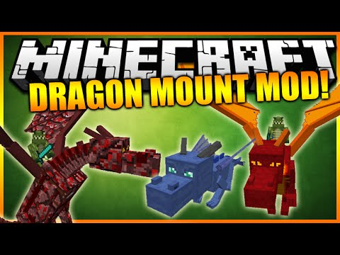 ★Minecraft: PET DRAGONS MOD - Tame, (Feed Fly & Grow A Dragon) Awesome Mod Showcase★