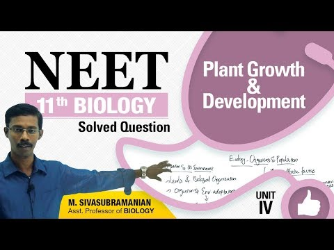 NEET 11th Biology || Plant Growth & Development || Solved Multiple Choice Question || Unit-IV