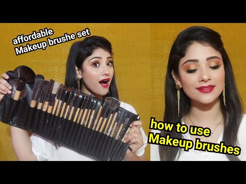 Best & affordable brushes set || how to use Makeup brushes