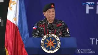 Full Speech of Pres. Duterte at the 67th Anniversary, First Scout Ranger Regiment