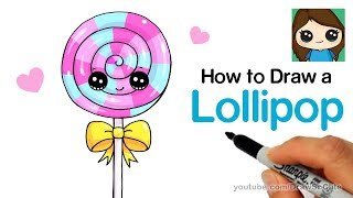 How to Draw a Lollipop Easy and Cute