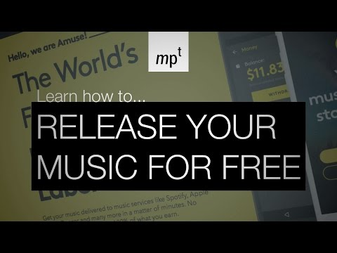 Release Your Music For FREE with Amuse.io on Spotify, Apple Music etc