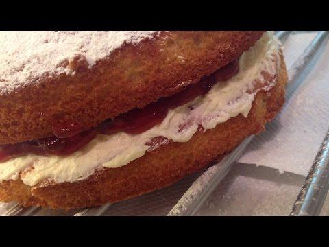 Victoria Sponge Cake with Coconut Buttercream Twist