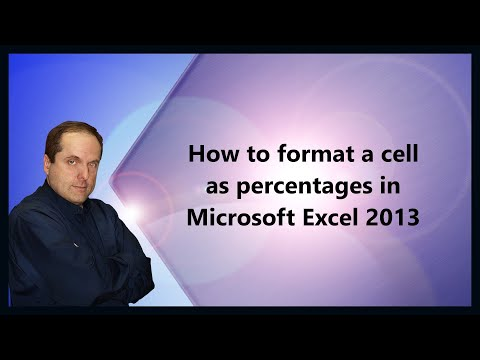 How to format a cell as percentages in Microsoft Excel 2013