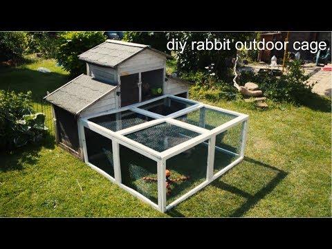 diy rabbit outdoor cage
