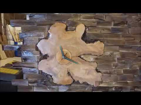 Create lighting with LED & wall clock with wood !!!