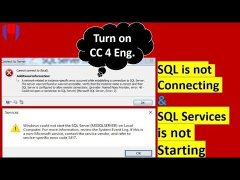 Sql is not Connecting and could not start SQL Services