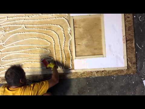 A way to make a strong, light, insulated door for a custom application