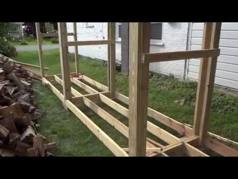 How to build a simple firewood shed by yourself (part 1)