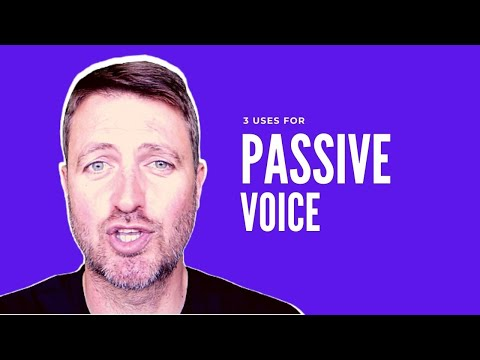 Three uses for passive voice in English