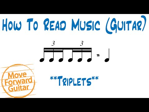 How to Read Music (Guitar) - Triplets