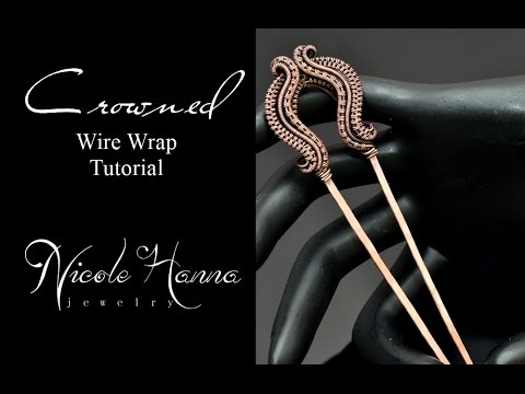 Wire Wrap Tutorial CROWNED HAIR FORK