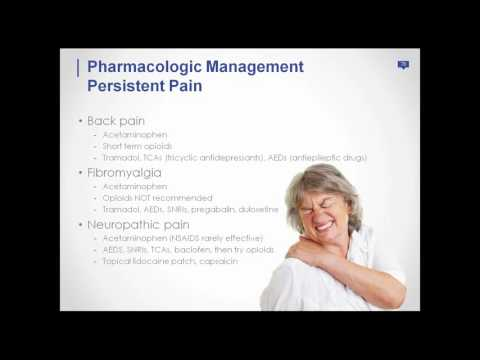 Webinar 3: Tips for Treatment of Pain and Anxiety in the Elderly