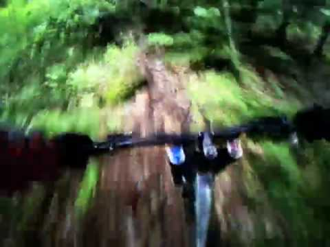 Riding in Pemberton behind Wade Simmons on Rocky Mtn's 2010 Flatline WC DH bike