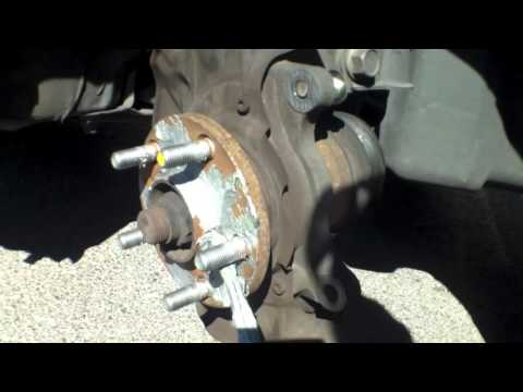 How to replace front brake pads rotors Toyota Matrix √