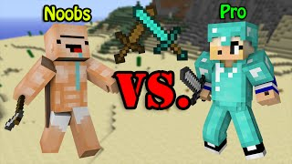 Noobs VS. Pro - Minecraft