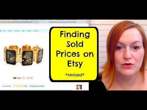 Finding Etsy *Sold* Listing Prices ***Revised & Updated***