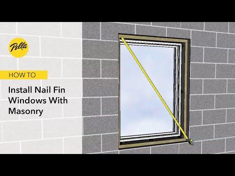 How To Install Nail Fin Windows With Masonry