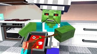 COOKING BATTLE SHOW ! Zombie - Craftronix Minecraft Animation