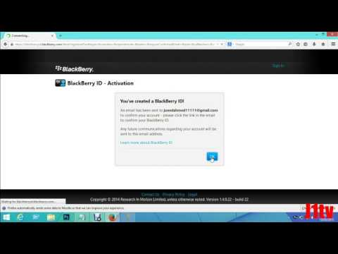 how to open a blackberry id