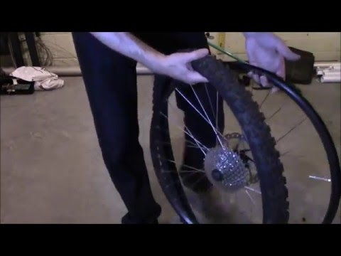 Changing a bicycle tire tube  - 26 inch bike