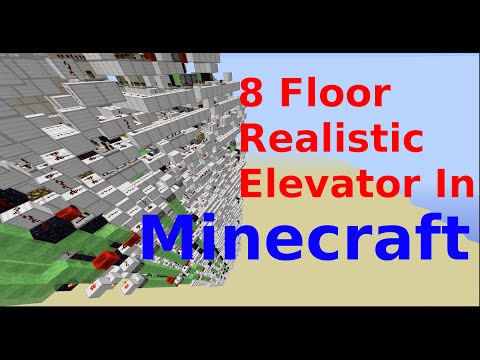 8 Floor Minecraft Elevator. The most realistic redstone elevator (NO Mods or Command Blocks)