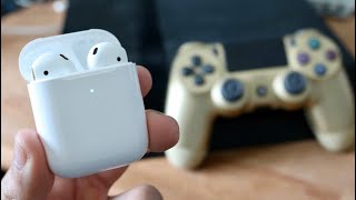 How To Connect Airpods To PS4! (2020)