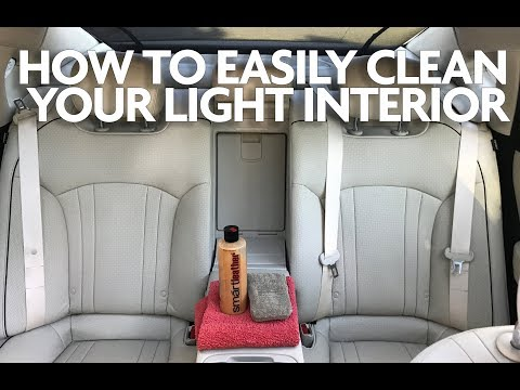 How to Clean Your Cars Light Interior Leather Seats Like a Pro And Keeping Them Look New! EASY!