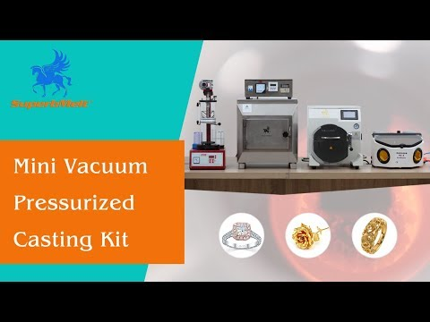 Mini vacuum jewelry casting kit, gold/platinum/silver jewellery & dental casting machine