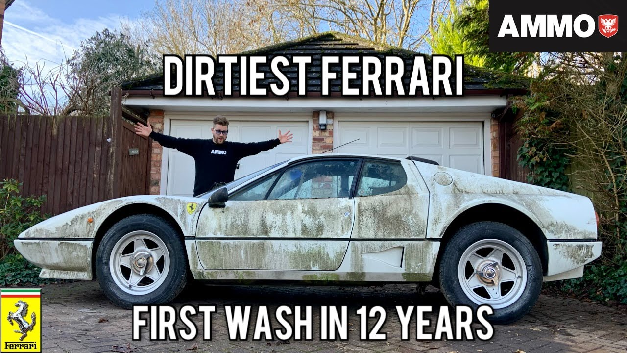 Ferrari 512BBi First Wash in 12 years. Only 6420 Miles - AMMO NYC