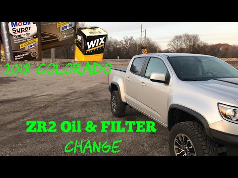 2018 Chevy Colorado ZR2 3.6 V6 oil and filter change + oil life reset