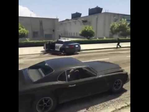 Funny GTA V video ...police man killed by another police man